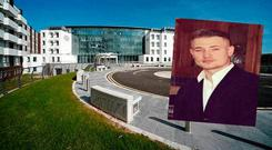Conor Quinn (inset) was tragically pronounced dead at Cork University Hospital