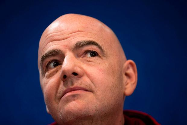 'Infantino has defended the idea of welcoming more sides into the competition' Photo: AP/Francisco Seco