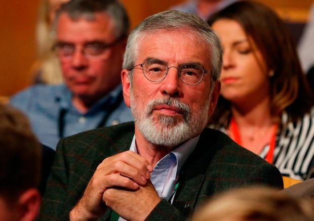 Former Sinn Fein leader Gerry Adams. Sinn Fein said the homes of Bobby Storey and Mr Adams were attacked with explosive devices on Friday night. Photo: PA