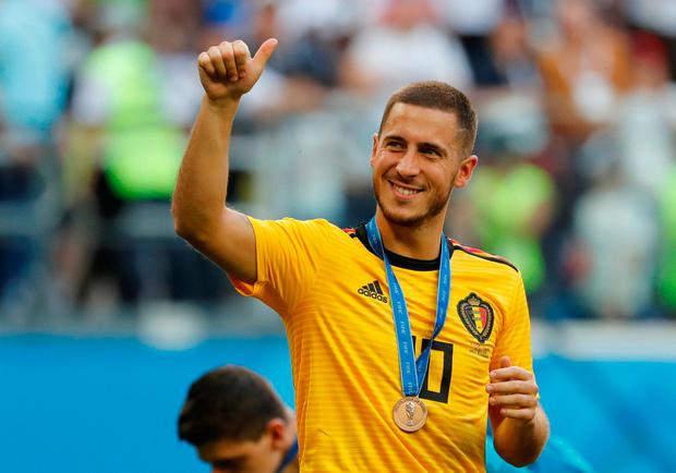Belgium's Eden Hazard after his side's third-place play-off victory over England.