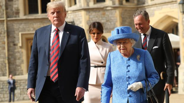 Donald Trump is reported to have described the Queen as 'beautiful' (Chris Jackson/PA)