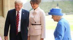 US President Donald Trump and first lady Melania Trump met with the Queen on Thursday (Chris Jackson/PA)