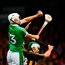 Seamus Flanagan of Limerick in action against Paddy Deegan of Kilkenny