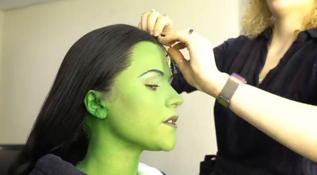 WATCH: Think your make-up routine is complex? Check out Amy Ross greening up for Wicked