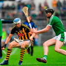TJ Reid of Kilkenny in action against Declan Hannon of Limerick