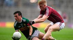 Paul Murphy of Kerry in action against Seán Andy Ó Ceallaigh of Galway during the GAA Football All-Ireland Senior Championship Quarter-Final Group 1 Phase 1 match between Kerry and Galway at Croke Park, Dublin. Photo by David Fitzgerald/Sportsfile