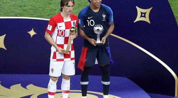 Luka Modric wins Golden Ball from Eden Hazard and Antoine Griezmann as France beat Croatia to World Cup title
