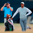 Tiger Woods with his caddy during preview day one of The Open Championship at Carnoustie. Photo: Richard Sellers/PA