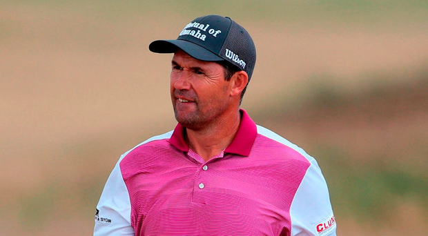 Padraig Harrington during preview day one of The Open Championship at Carnoustie. Photo: Richard Sellers/PA