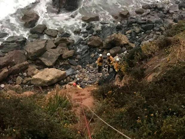 Angela Hernandez is found at the bottom of a cliff in California. Photo: Reuters
