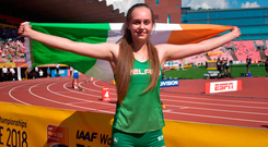 Sommer Lecky took silver at the World U-20 Championships in Tampere, Finland