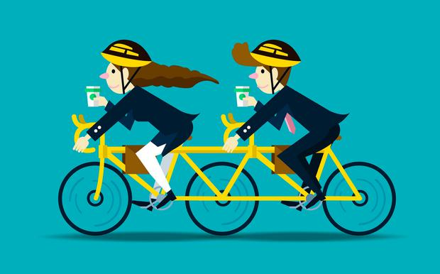 Get on your bike and cycle to work, it's a great way to start your day