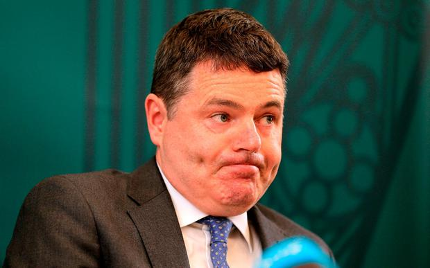 Finance Minister Paschal Donohoe confirmed the number of new posts at ports and airports would run into the hundreds. Photo: Gerry Mooney