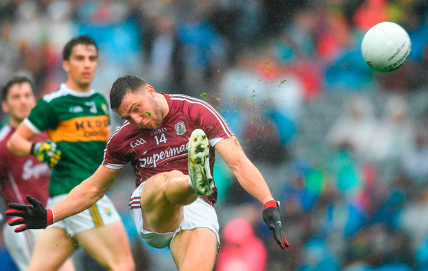 Damien Comer of Galway scores a first half point Photo: Piaras Ó Mídheach/Sportsfile