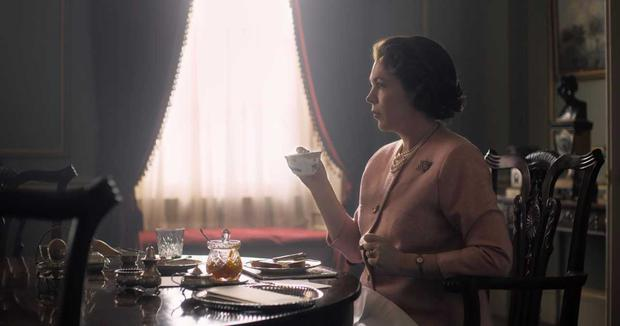 Olivia Colman as HRH Queen Elizabeth from season 3 of The Crown on Netflix