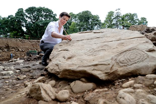Discovery of Megalithic Passage Tomb Cemetery within the Brú na Bóinne World Heritage Site. Dr Cliodhna Ni Lionain Devenish's (pictured) is the lead archaeologist for the project.