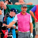 Padraig Harrington during preview day one of The Open Championship 2018 at Carnoustie