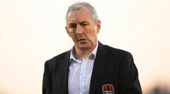 10 July 2018; Cork City manager John Caulfield following the UEFA Champions League 1st Qualifying Round First Leg between Cork City and Legia Warsaw at Turner's Cross in Cork. Photo by Eóin Noonan/Sportsfile