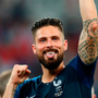 Olivier Giroud of France celebrates following France winning the trophy Photo: Getty
