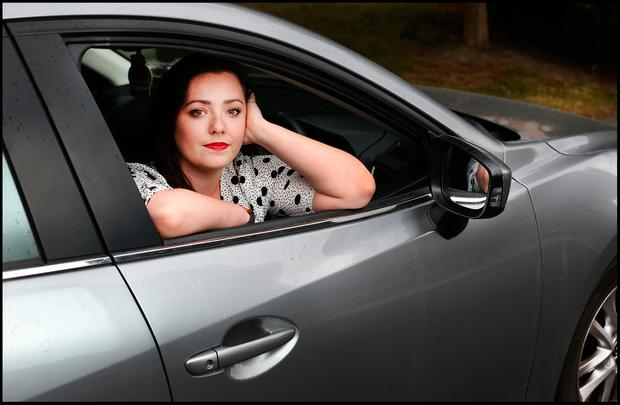 Amy Molloy in her 141 Mazda 3. Photo: Steve Humphreys