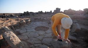 The remains of a charred flatbread were found at an archaeological site in Jordan dating back 14,400 years by an European team of researchers including experts from University College London and The University of Cambridge