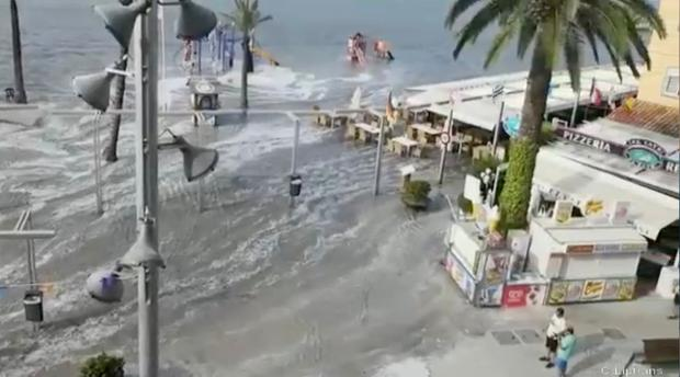 A MINI-tsunami has hit tourist beaches in parts of Majorca and Menorca: Solarpix