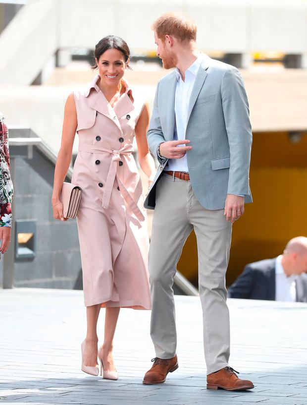 Meghan, Duchess of Sussex and Prince Harry, Duke of Sussex visit the Nelson Mandela Centenary Exhibition at Southbank Centre's Queen Elizabeth Hall on July 17, 2018 in London, England. The exhibition explores the life and times of Nelson Mandela and marks the centenary of his birth. (Photo by Chris Jackson/Getty Images)