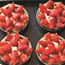 Strawberry ricotta cakes