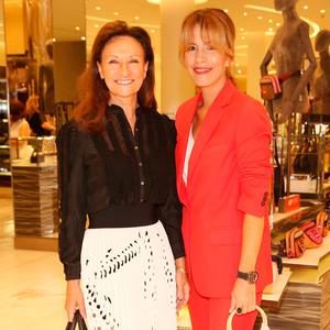 Celia Holman Lee and Annmarie O'Connor at Brown Thomas Dublin Autumn Winter 2018 International Designer Collections. Picture: Leon Farrell/Photocall Ireland