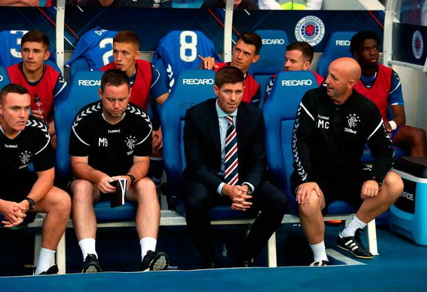 Rangers manager Steven Gerrard during the Europa League, Qualifying Round One, First Leg match at Ibrox, Glasgow. PRESS ASSOCIATION Photo. Picture date: Thursday July 12, 2018. Andrew Milligan/PA Wire