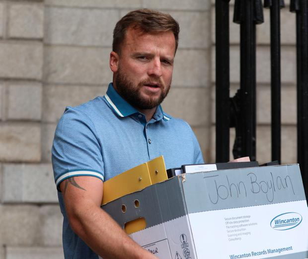 John Boylan leaves court during a case over the ownership of Labaik. Photo: Collins Courts