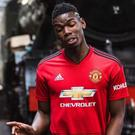 Jesse Lingard and Paul Pogba model the new Manchester United kit CREDIT: KOHLER UNITED/TWITTER
