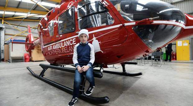 Conor McMullan became the first NI casualty to be attended by the air ambulance in July last year.