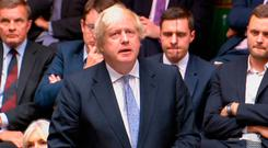 Boris Johnson giving a statement to the House of Commons in London on his resignation as foreign secretary. Wednesday July 18, 2018. Photo: PA Wire