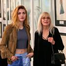 17/07/'18 Frances Bean Cobain, daughter of Kurt Cobain and his mother, Wendy O'Connor and sister Kim Cobain pictured this morning at the Newbridge Museum of Style Icons where the Cobain family opened an exhibition 'Growing Up Kurt Cobain'. CobainÄôs family has specially curated some of his very personal items for this once in a lifetime commemoration. The Museum of Style Icons will house KurtÄôs drawings and sketches along with clothing, awards, sunglasses, sneakers and the only known car Kurt owned during his life, a powder blue 1965 Dodge Dart. The exhibition runs until 30th September 2018 ..Picture Colin Keegan, Collins Dublin.