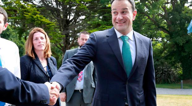 Taoiseach Leo Varadkar pictured as he arrived before the start of the Cabinet meeting at Derrynane house, Co Kerry. Photo: Frank McGrath