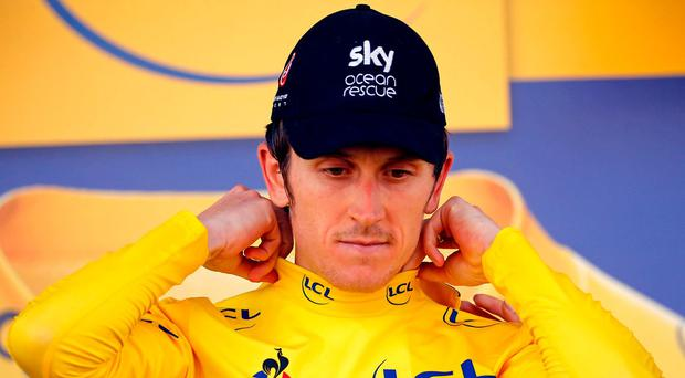 Thomas climbs into leader's jersey but Yellow peril awaits for Sky and Froome