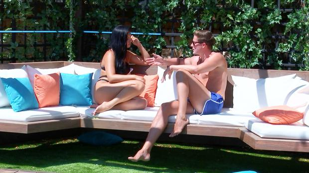 Viewers divided over Alex and Alexandra as dramatic Love Island recoupling looms (ITV)