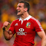 Sam Warburton celebrates after the Lions' victory over Australia in 2013. Photo: Getty Images
