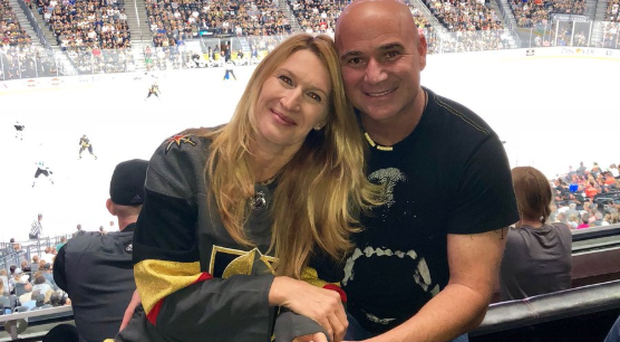 Andre Agassi and his wife Steffi Graf Photo: Twitter/ @AndreAgassi