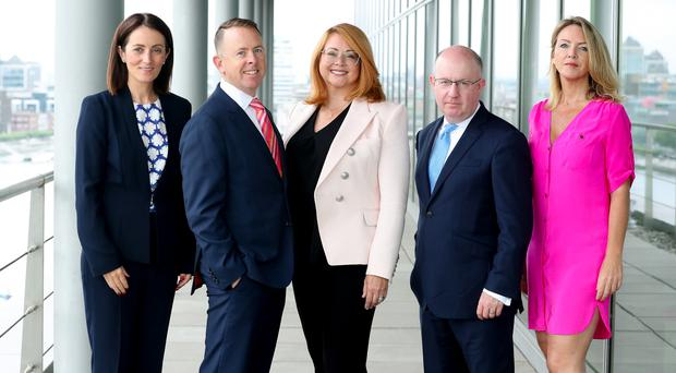 L-R: Yvonne Thompson, PwC Ireland Aviation Finance Leader, Bryson Monteleone, senior advisor, PwC Ireland Aviation Finance practice, Stephanie Sanford, Timothy Loy, and Rachel Frye, PwC Ireland Aviation Finance Advisory Leader
