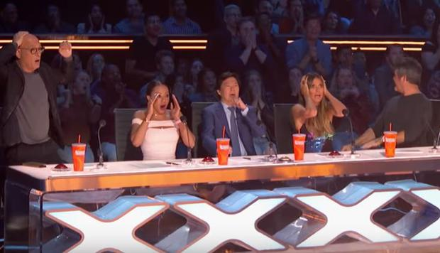 America's Got Talent trapeze act goes wrong as performer falls heavily