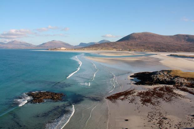 Under the sea: Luskentyre beach on the Isle of Harris