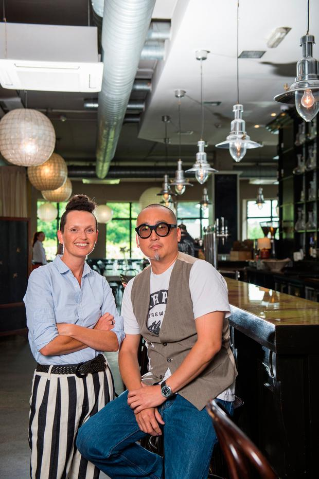 Meat masters: Jeni Glasgow and Reuven Diaz at their restaurant Eastern Seaboard in Drogheda, County Louth. Photo: Barry Cronin