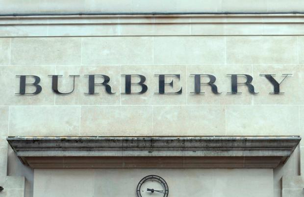 File photo dated 01/02/13 of the Burberry sign. Photo. Issue date: Thursday July 19, 2018. Photo: Jonathan Brady/PA Wire