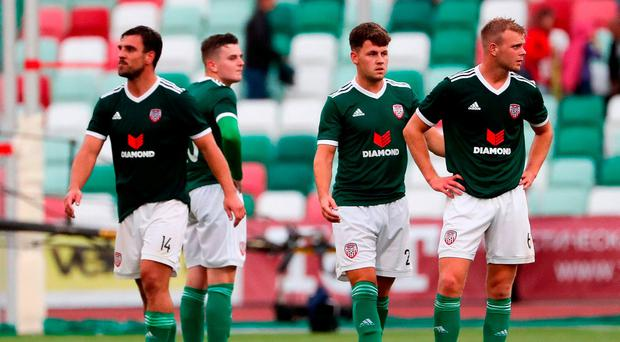 Derry City claim famous win in Minsk but fail to advance from Europa League qualifier