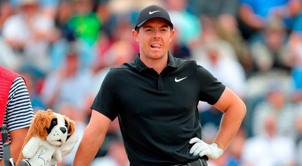 Rory McIlroy vows to keep playing aggressively as he tries to reel in Open Championship leader Kevin Kisner