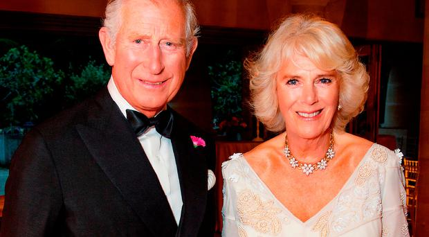 Prince Charles with his wife Camilla, the Duchess of Cornwall