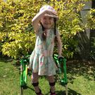Odette 'Odie' O'Brien (4) has spastic diplegic cerebral palsy, affecting her mobility and ability to walk
