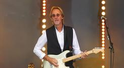 VIRGINIA WATER, ENGLAND - MAY 28: Mike Rutherford of Mike and The Mechanics performs after day three of the BMW PGA Championship at Wentworth on May 28, 2016 in Virginia Water, England. (Photo by Richard Heathcote/Getty Images)